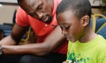 Shaun and Usain Bolt - The Caribbean's youngest author, age 10