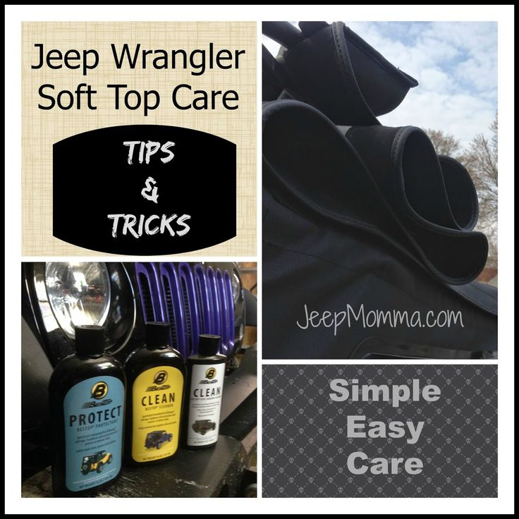 Jeep Momma: Jeep Vinyl Soft Top Cleaning & Zipper Care