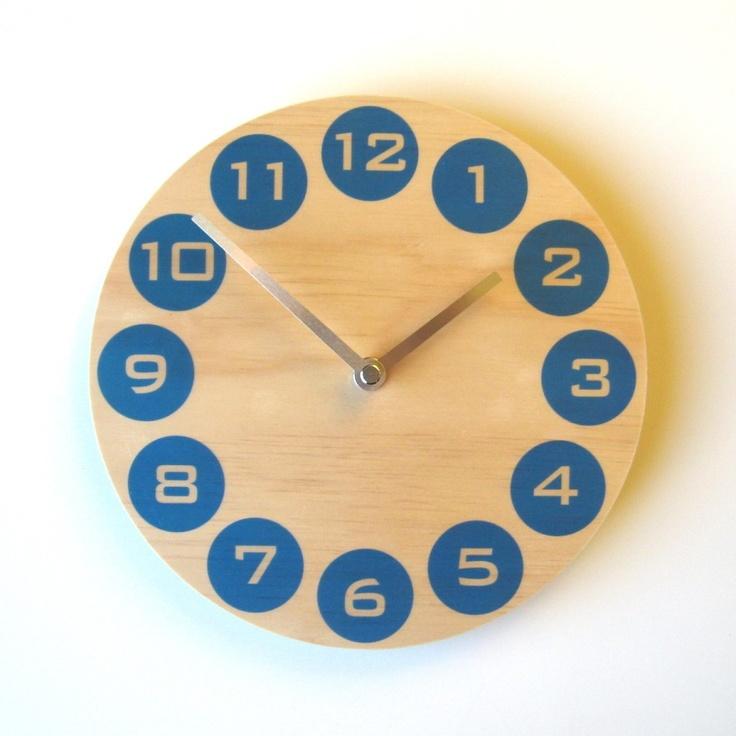Radiata pine Objectify wall clock. Yay NZ made!
