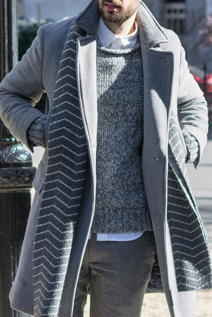 Layered men's outfits for warm and stylish winter fashion