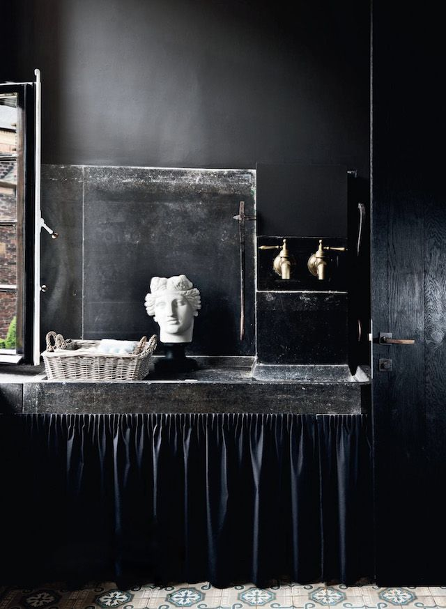 Vintage stone sink and details
