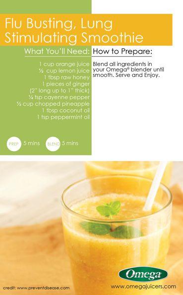 flu busting lung stimulating smoothie omega juicers cold u0026 flu - Omega Juicers