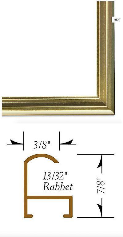 Other Framing and Matting 11786: Nielsen Gold Metal Frame Kit 11 14 ...