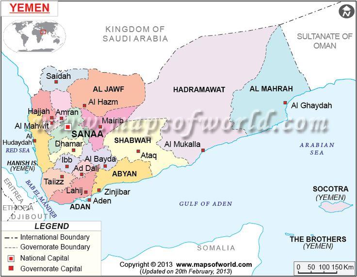 #Carte du #Yémen