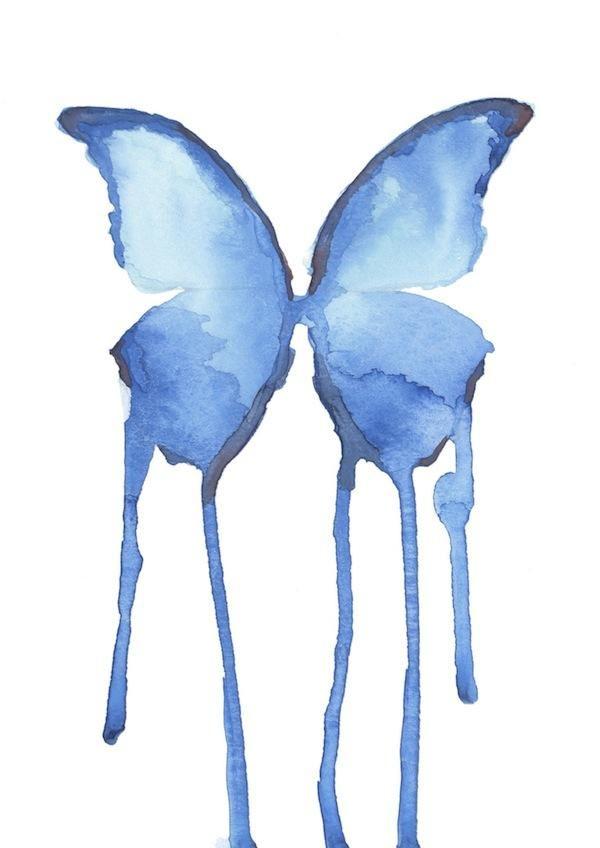 "Butterfly watercolor 5"" x 7"""