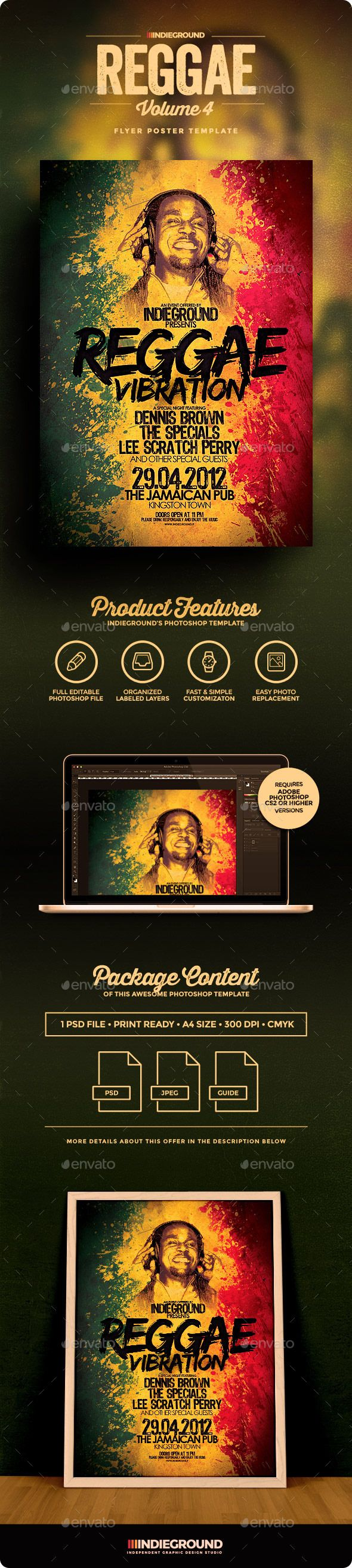 business party invitation letter templates%0A Reggae Flyer Poster Vol     Business Flyer TemplatesBusiness