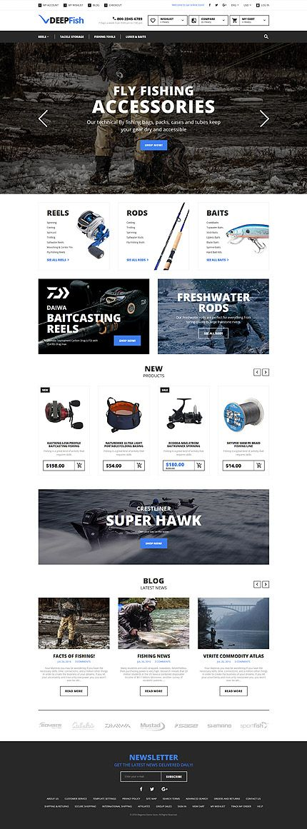 Fly Fishing Accessories Online Store #Magento #template. #themes #business…
