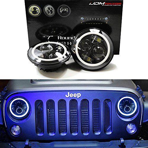 iJDMTOY-2-Black-Bezel-40W-CREE-7-Round-LED-Headlights-AmberWhite-Switchback-LED-Halo-Rings-For-Jeep-Wrangler-CJ-Also-any-car-with-7-round-shape-headlamps-0-6
