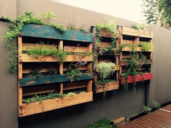 Pallet #Vertical #Gardens – Wall Planters - Top 15 DIY Pallet Furniture Ideas   99 Pallets