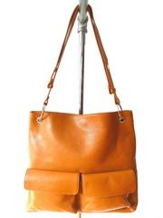 Gapock X Crossbody Travel Bag Orange Pebble Grain from IMPERIO jp on Taigan