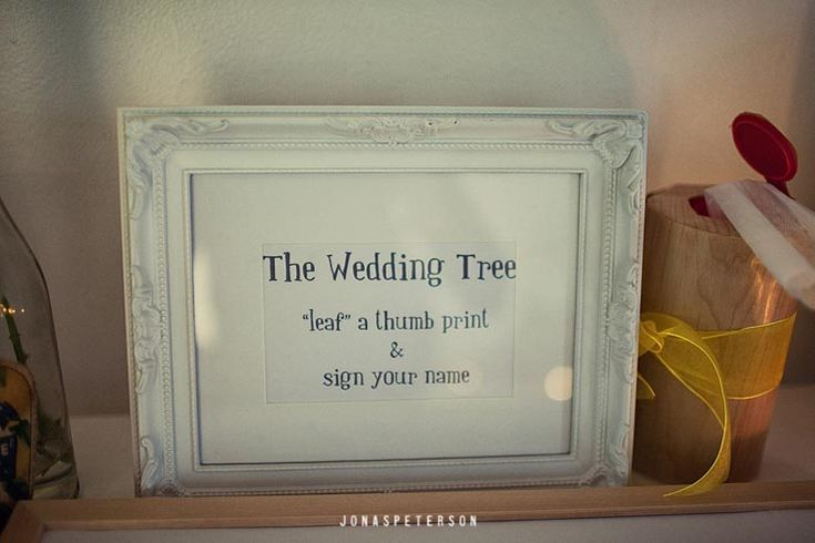 Fingerprint tree Poem/Instructions | Wedding | Pinterest ...