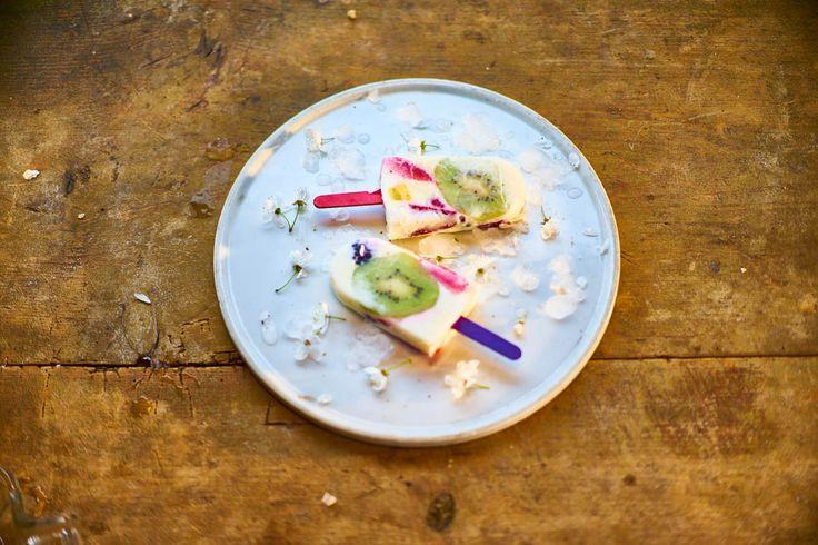 Šlehačkový nanuk s jogurtem a indiánskou borůvkou