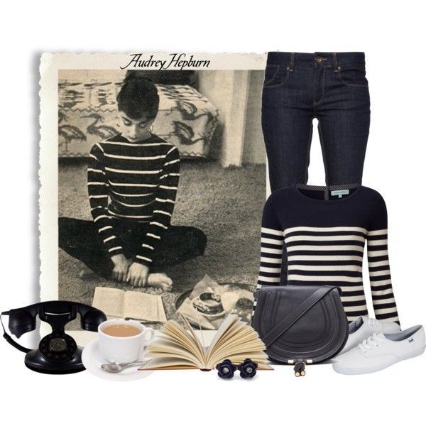"""Audrey Hepburn Style Inspiration"" by ameve on Polyvore"