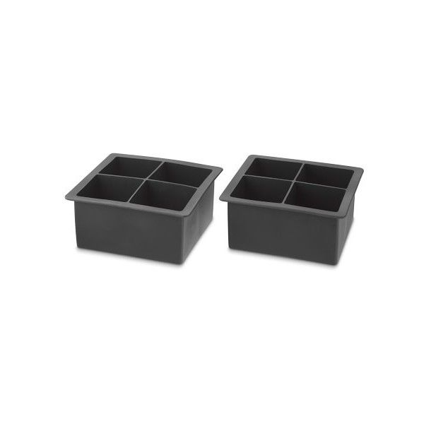 Williams-Sonoma King Cube Silicone Ice Cube Trays Set of 2 ($17) ❤ liked on Polyvore featuring home, kitchen & dining, kitchen gadgets & tools, flexible ice trays, ice molds, silicon ice tray, king cube ice tray and silicon ice cube tray