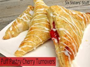 Puff Pastry Cherry Turnovers maybe substitute packaged pastry for homeade ;)