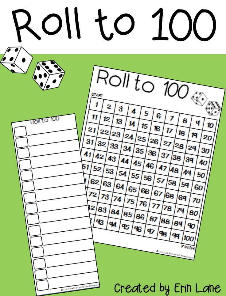 FREE 100 chart games, printable, and a bonus 120 chart!