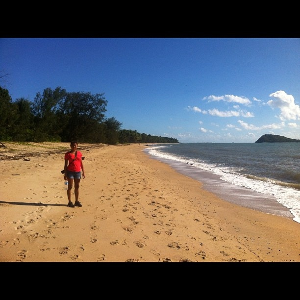 Palm Cove beach to ourselves pt 2 by wadlingbury, via Flickr