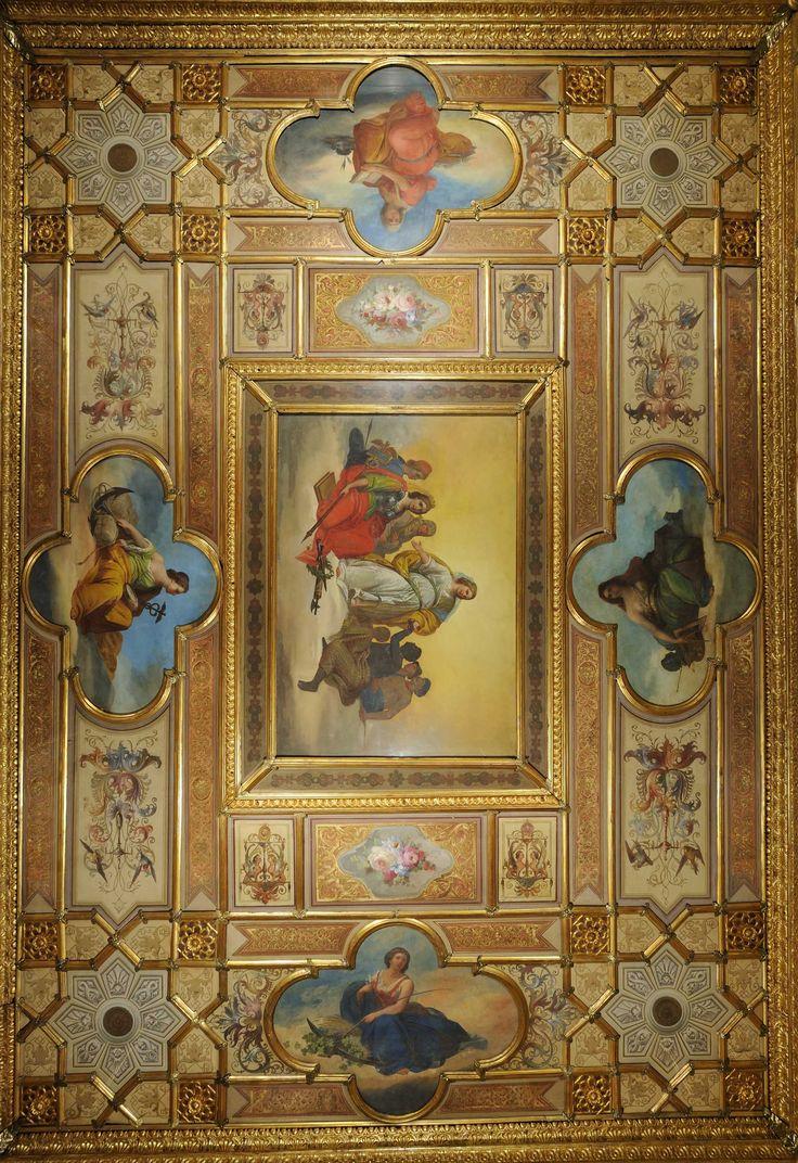 Giacomo Casa (1827-1887) Sala del Senato - The hall of the seasons where Venice #biennale was born   Caffè #Florian a #Venezia San Marco - Florian #cafè in #Venice Saint Mark #travel #travelinspiration #italy #italia #veneto #instaitalia #italianalluretravel #lonelyplanetitalia #lonelyplanet #italianart #art
