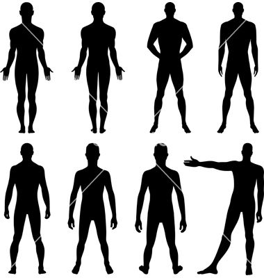 Full length front back silhouette of man vector 929545 - by arlatis on VectorStock®