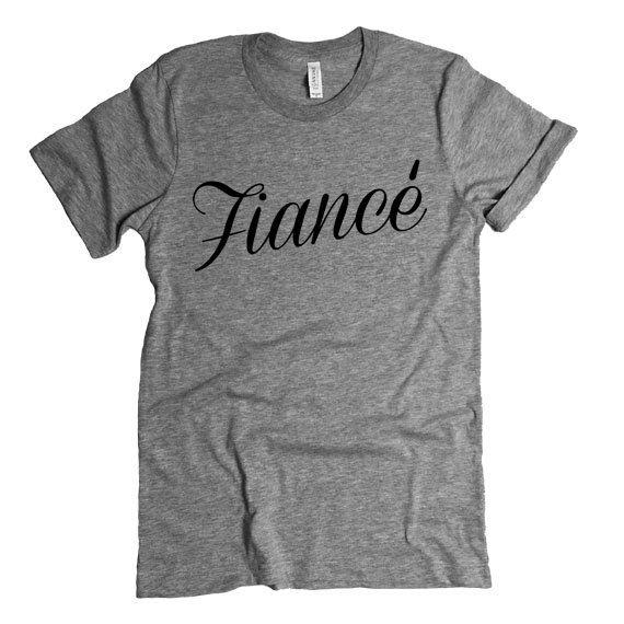 Fiance Shirt. Bachelorette Party Engagement by StatementTshirts