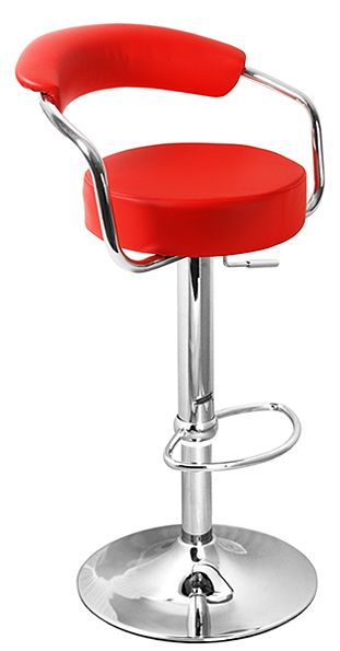 Grent grey kitchen breakfast bar stool with padded back and seat and arms