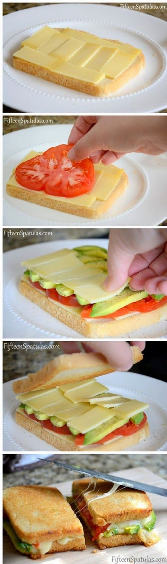 Grilled Cheese with Avocado and Heirloom Tomato - 16 Healthy Spring Recipes for Kids | GleamItUp