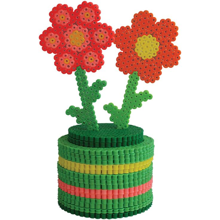 This is a great project for kids to make as a gift—for Mother's Day, a birthday, a get-well wish. It's easy to sub your own favorite colors of Perler beads to make the flowers you want.