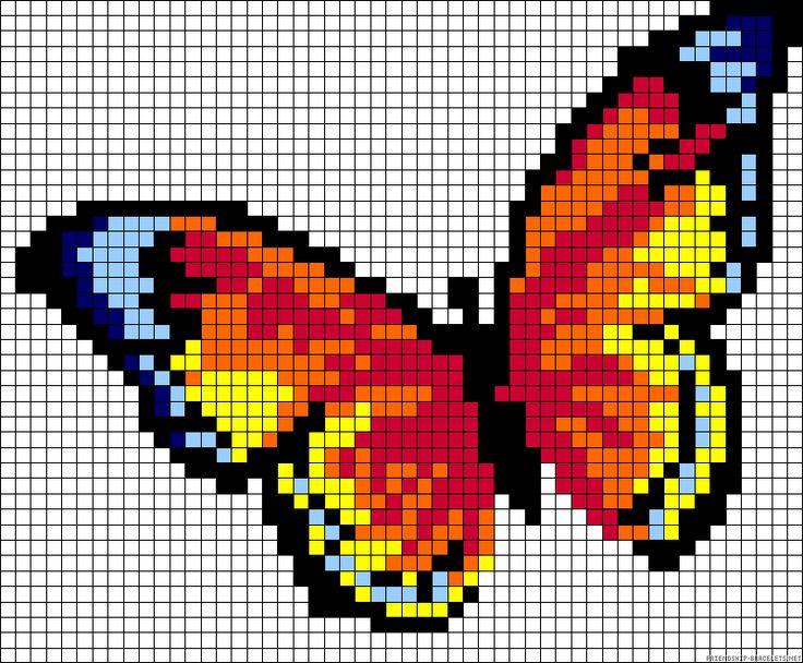 17 Best images about Perler bead designs on Pinterest ... - Pixel Art Papillon
