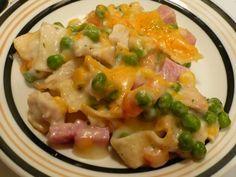 Sajtos borsós tészta, csodás sonkával és baconnel, finom kísértés :)