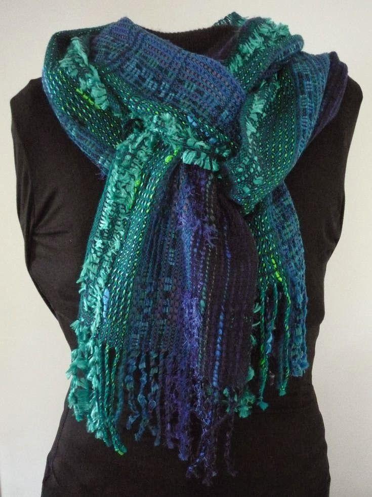 Una linda bufanda en telar