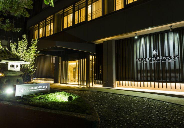 ホテル龍名館お茶の水本店の夜景写真です。