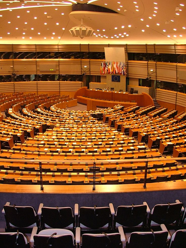The European Parliament (Brussels, Belgium) is the directly elected parliamentary institution of the European Union (EU). Together with the Council of the European Union and the European Commission, it exercises the legislative function of the EU and it has been described (by its own members) as one of the most powerful legislatures in the world. Composed of 766 members, it represents the second largest democratic electorate in the world (after the Parliament of India). Source: Wikipedia