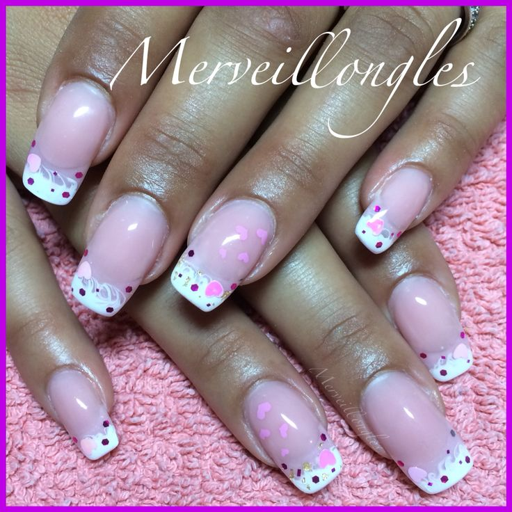 Gel uv french faux ongles