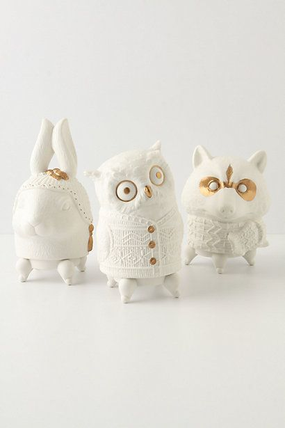 Bundled Up Critter Candles from Anthropologie.