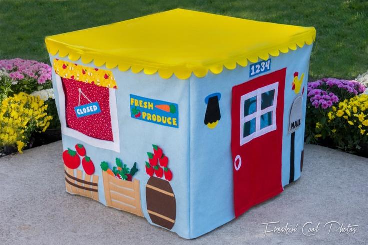 Farm Stand Card Table Playhouse,  $245.00, via Etsy.  Card table playhouses