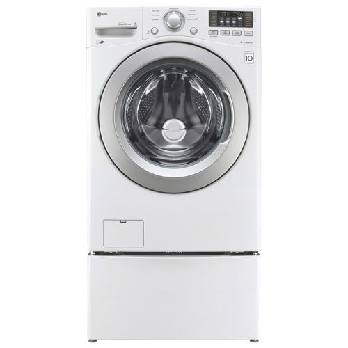 "LG 27"" 5 Cu. Ft. Front Load Washer (WM3170CW) - White"