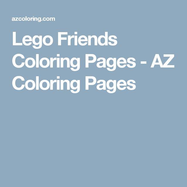 Lego Friends Coloring Pages - AZ Coloring Pages