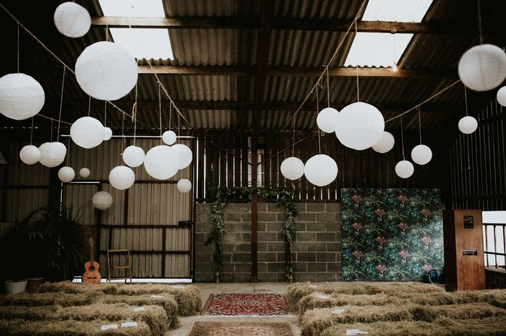 This Welsh wedding features a gorgeous re-purposed lambing shed as the venue, perfectly industrial details, and inspiring DIY projects.