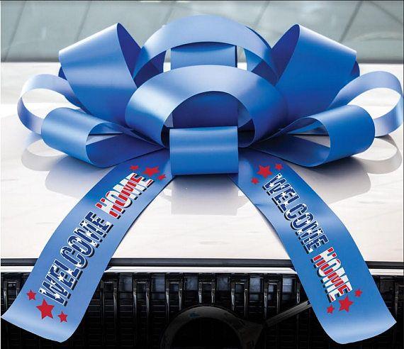 Custom Car Bow Custom Message Bow Car Bow Magnetic Base Water