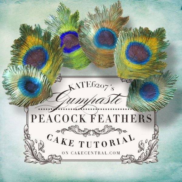 How to Make a Gumpaste Peacock Feather - Tutorial - Cake Central
