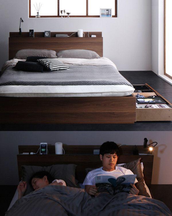 Reallt は敷布団が使える和と相性のよい収納ベッドです ベッド 寝室 寝室インテリア 和モダンインテリア 大人インテリア 収納ベッド 布団が使える シンプル ヘッドボード ベッド 収納ベッド 居家