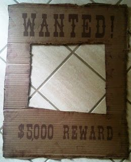 Make your own wanted sign out of a piece of cardboard and black marker! This would be perfect to use on the first and last day of school to commemorate the western, country, Old West, or cowgirl & cowboy theme classroom!