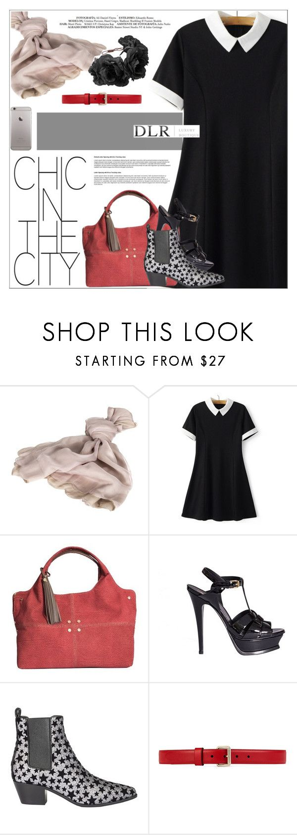 """""""DLRBOUTIQUE.COM"""" by mirachu-1 on Polyvore featuring Valentino, Borbonese, Yves Saint Laurent, Gucci and Rock 'N Rose"""