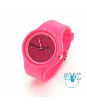 Silic® Watch COLOR Round - rosy variace