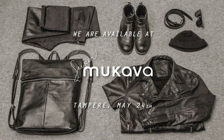 We are so excited! Starting from May 24th we will be available at Super Mukava store, Tampere! One of the products we made for them is the Alan Leather Backpack. See you in Tampere!