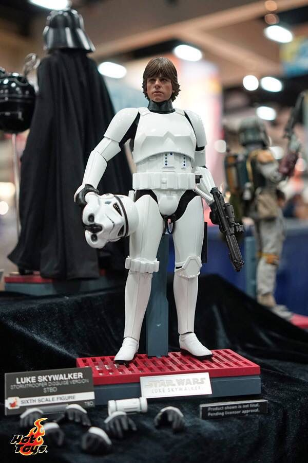 Hot toys Display at San Diego Comic Con. Luke Skywalker in Stormtrooper Disguise.