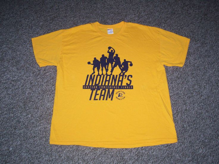 Indiana Pacers Gold Swagger NBA 2013 SGA Game 6 Eastern Finals Shirt-XL (USED) #IndianaPacers