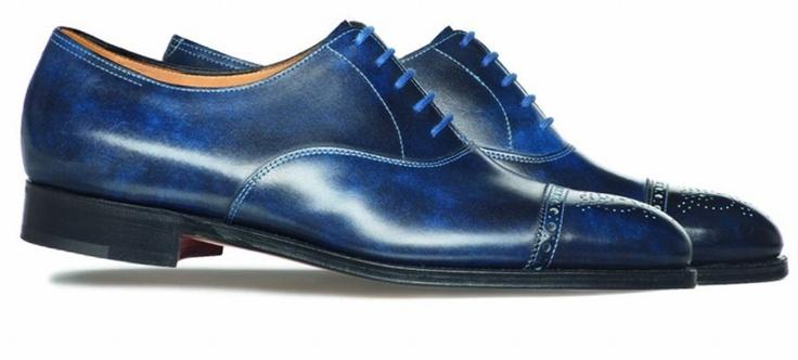 paul smith x john lobb Westbourne Lapis Blue 03: Fun Shoes, Paul Smith, Lobb Collaborative, Footwear Collection, Lapis Blue, 2012 Footwear, John Lobb, Lobb Westbourn, Menswear Style