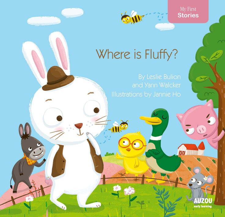 Flaps, foil inserts, and tactile elements accent this farmyard mystery. Little Bunny's blue blanket, Fluffy, has gone missing, and several animals lend their assistance in trying to find it. Ho's round-headed animals show off a range of emotions, from Little Bunny's evident concern to Pig's all-around grumpiness.  --Publishers Weekly, May 2015