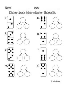 Worksheets Number Bond Worksheets 1000 ideas about number bonds worksheets on pinterest domino for common core math